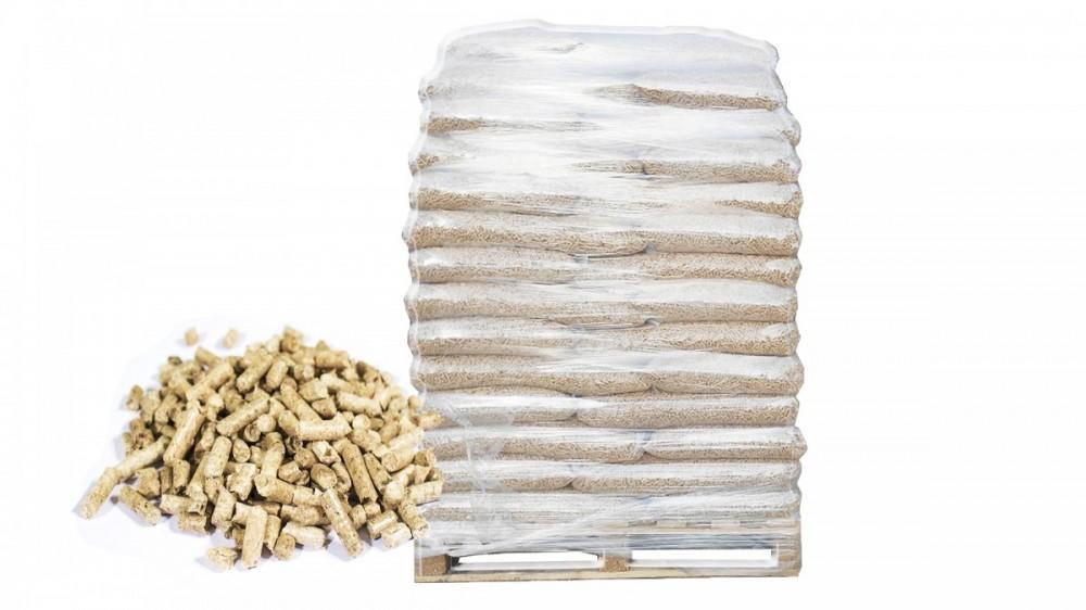 Dřevěné pelety PREMIUM A1/En plus -  1050 Kg