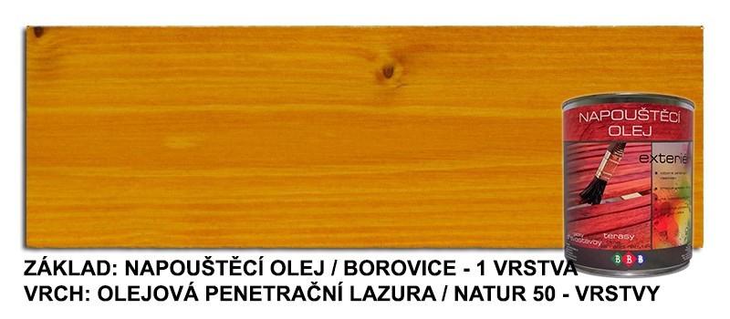 Napouštěcí olej Borovice 0,9lt