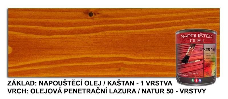 Napouštěcí olej KAŠTAN 0,9lt