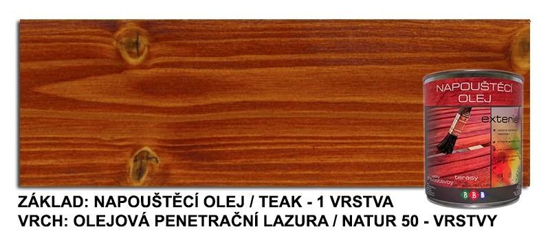 Napouštěcí olej TEAK 0,9lt