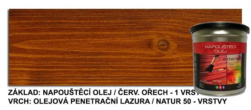 Napouštěcí olej Červený ořech 2,7lt
