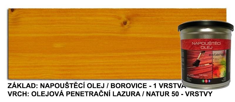 Napouštěcí olej Borovice 2,7lt