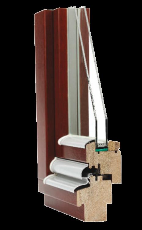 Dřevěné okno EURO IV 68 TREND